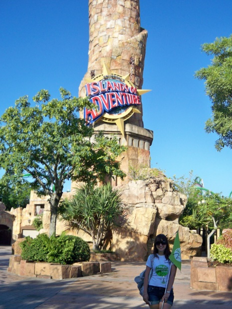 """""""The Pharos Lighthouse"""" no Port of Entry do Islands of Adventure"""