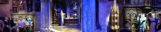 escritório de Albus Dumbledore (super cheio)