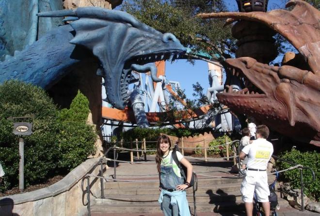 entrada da Dueling Dragons, antes de ser incorporada ao Wizarding World