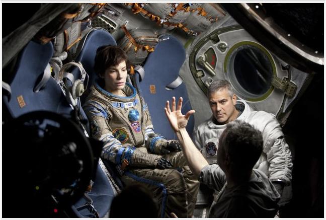 Bullock, Clooney, Cuarón