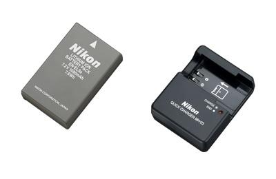 bateria e carregador Nikon